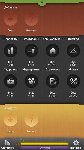 CoinKeeper - главный экран
