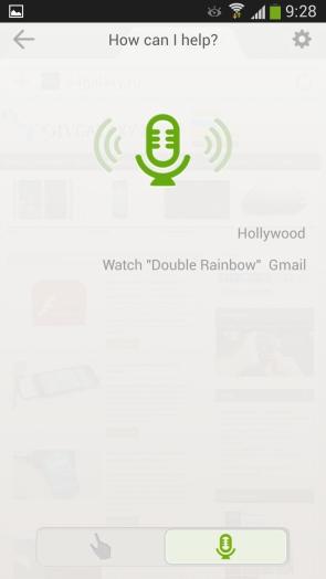Dolphin Browser для Samsung Galaxy S4 - голосовой поиск