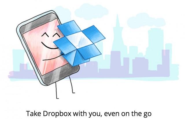 Dropbox на Samsung Galaxy S4, S3 и Note 2