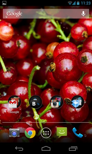 Wallpaper Current Berries - интерактивные обои с ягодами на Galaxy S4