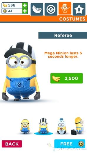 Игра Minion Rush - скины миньонов