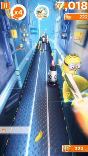 Игра Minion Rush - полет на ракете