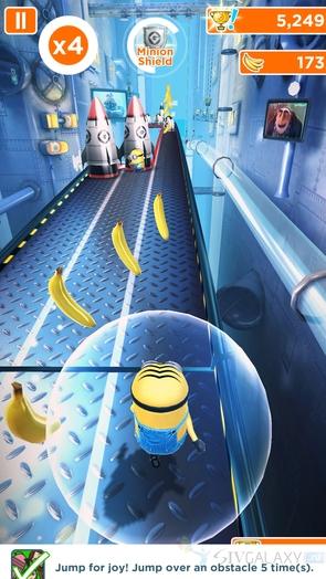 Игра Minion Rush - защитное поле