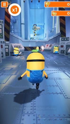 Игра Minion Rush - забег в лаборатории