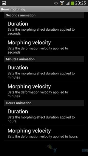 Morph O'Clock - настройки