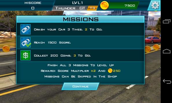 Redline Rush 3D - миссии