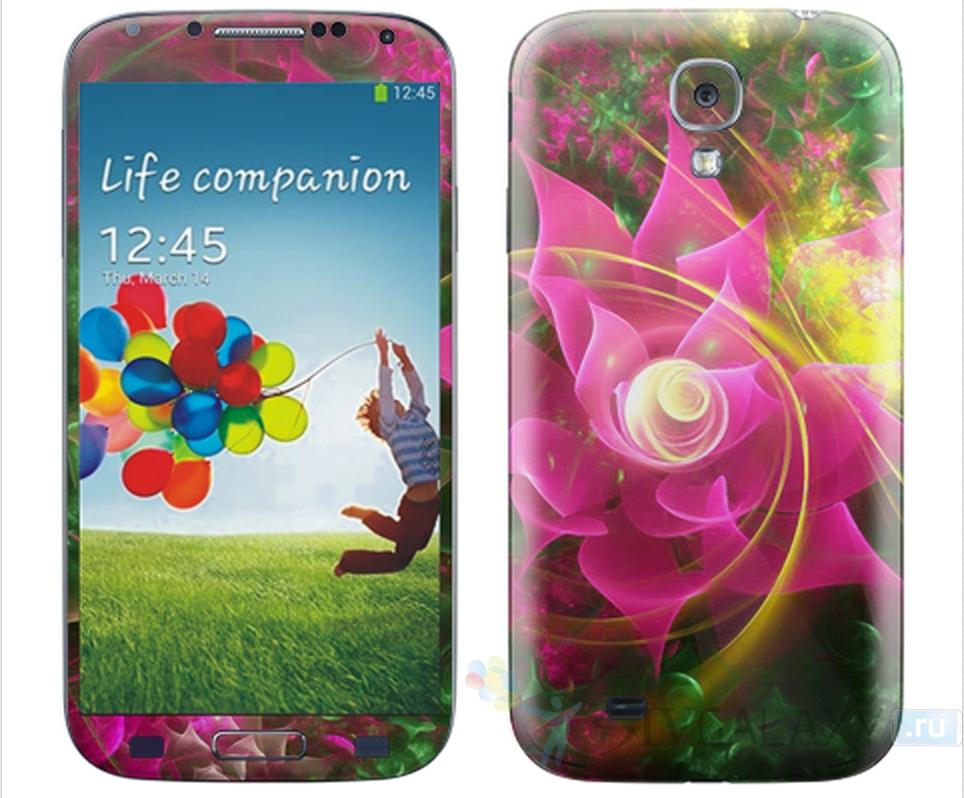 Виниловые наклейки для Samsung Galaxy S4 - цветы