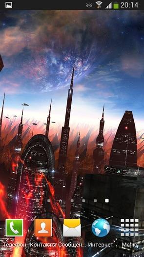 Space Colony - живые обои с космосом
