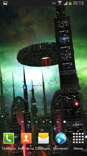 Space Colony - анимированные обои с космосом для Galaxy S4