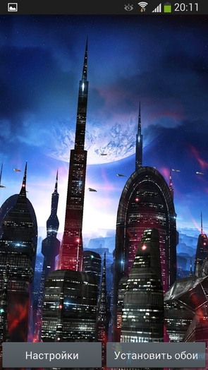 Space Colony - живые обои для Galaxy S4