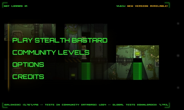Stealth Bastard - меню