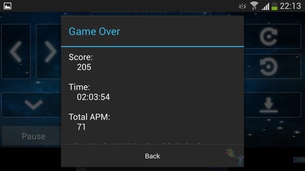 Tetris 2013 - game over