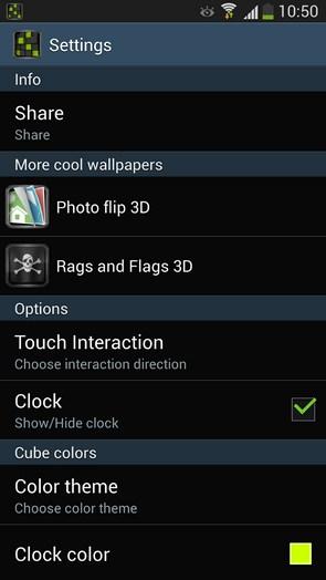 Cube City 3D Pro - живые обои на смартфоны Андроид