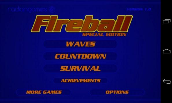 Fireball SE - аркада на смартфоны Android