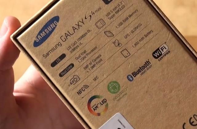 Распаковка Samsung Galaxy S4 Mini