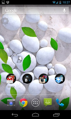White Pebble Live Wallpaper - интерактивные обои на Samsung Galaxy S4