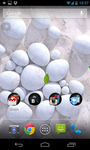 White Pebble Live Wallpaper - анимированные обои на Galaxy 4