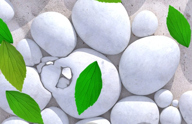White Pebble Live Wallpaper - живые обои на Samsung Galaxy S4