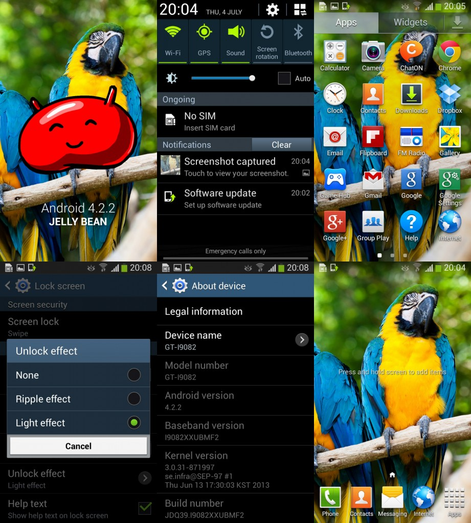 Android 4.2.2 для Samsung Galaxy Grand DUOS