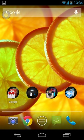Orange - фруктовые живые обои на Samsung Galalxy S4