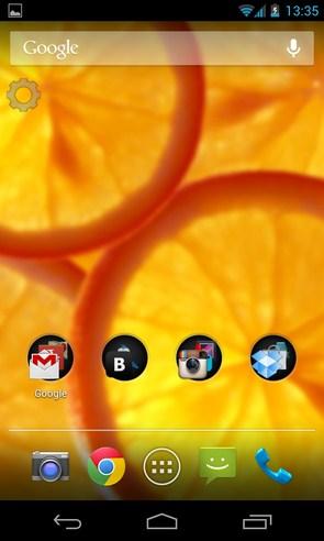 Orange - анимированные  обои на Samsung Galalxy S4