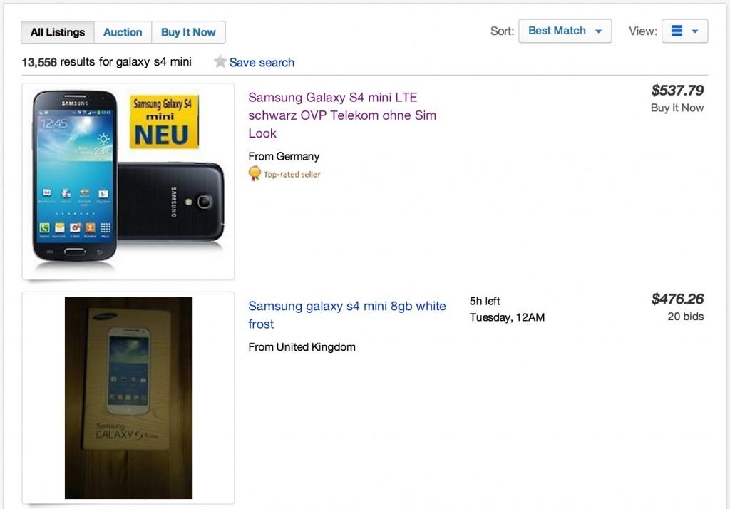 Цена и дата старта продаж Galaxy S4 Mini