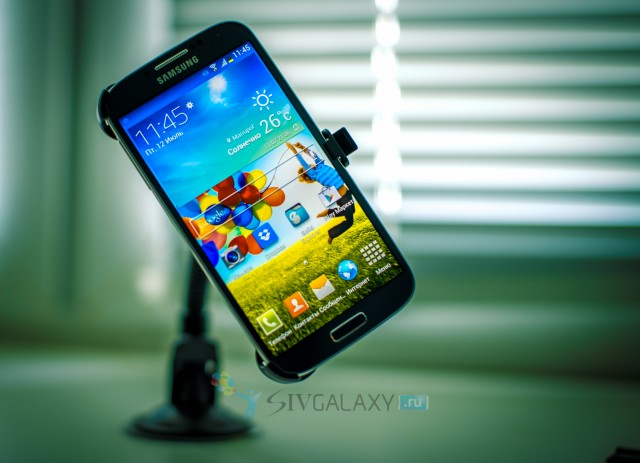 Автодержатель на Samsung Galaxy S4