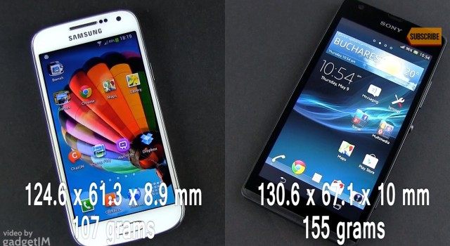 Сравнение Samsung Galaxy S4 Mini vs Sony Xperia SP