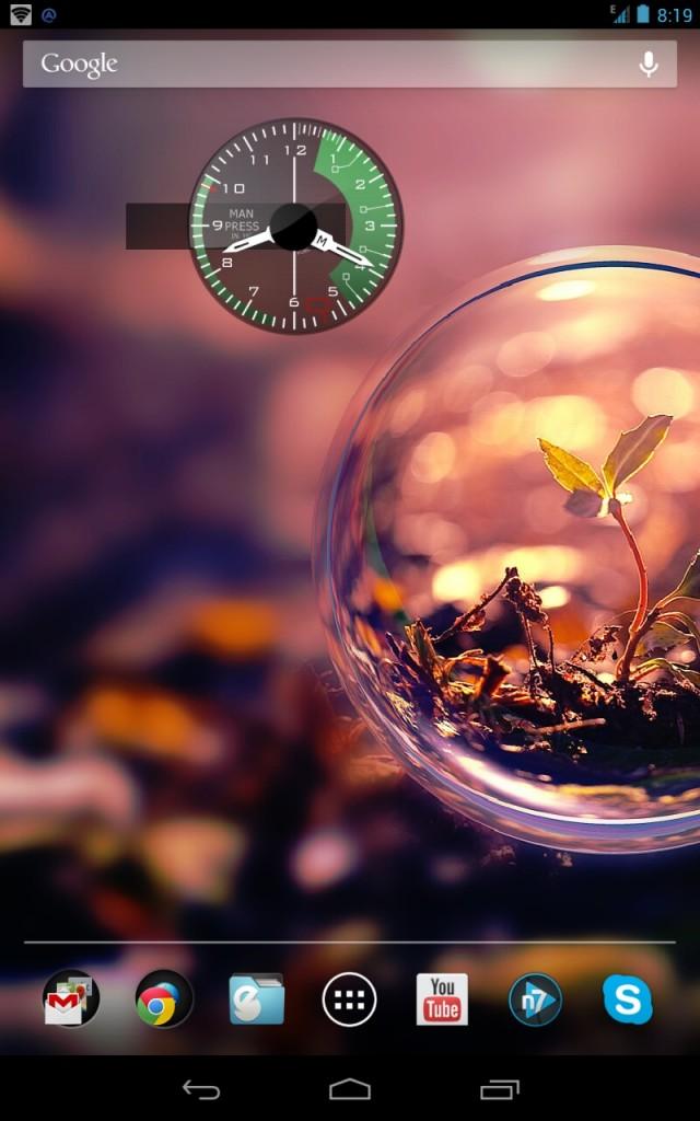Виджет армейских часов для Samsung Galaxy S4