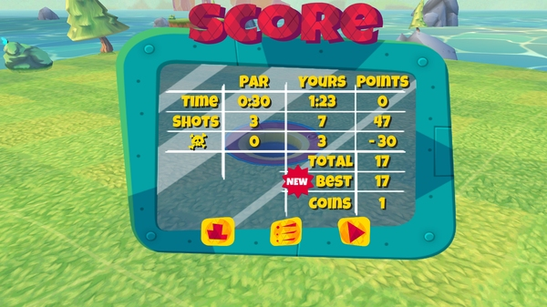 Boom Boom Hamster Golf - счет
