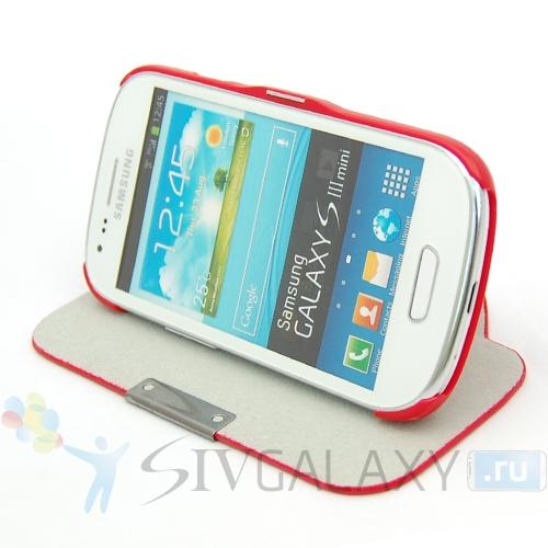 Красный чехол для Samsung Galaxy S3 Mini