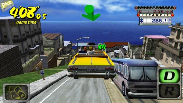 Игра Crazy Taxi 3D на Галакси С4