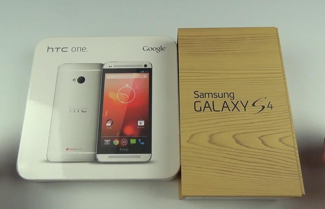 Видео: Samsung Galaxy S4 vs HTC One Google Play Edition ...