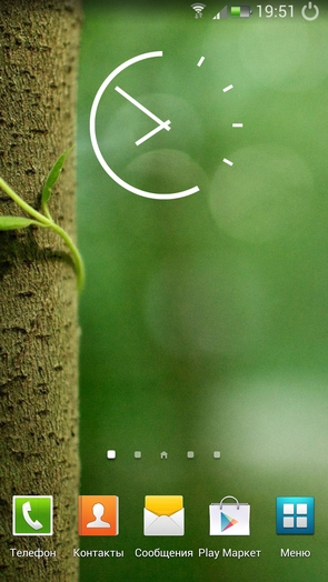Key Lime Pie Clock - виджет часов в стиле Андроид 5.0