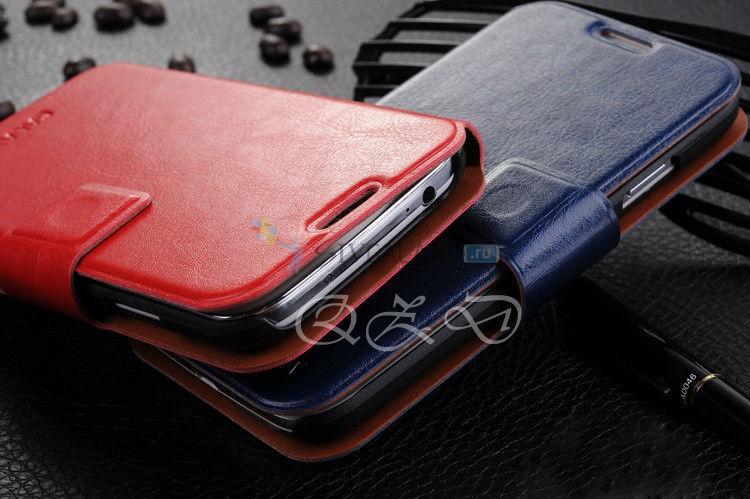 Красный и синий чехлы для Samsung Galaxy S4 (кожа)
