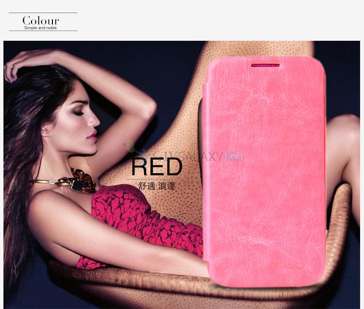 Розовый чехол из кожи для Galaxy S4 Mini I9190 и I9192