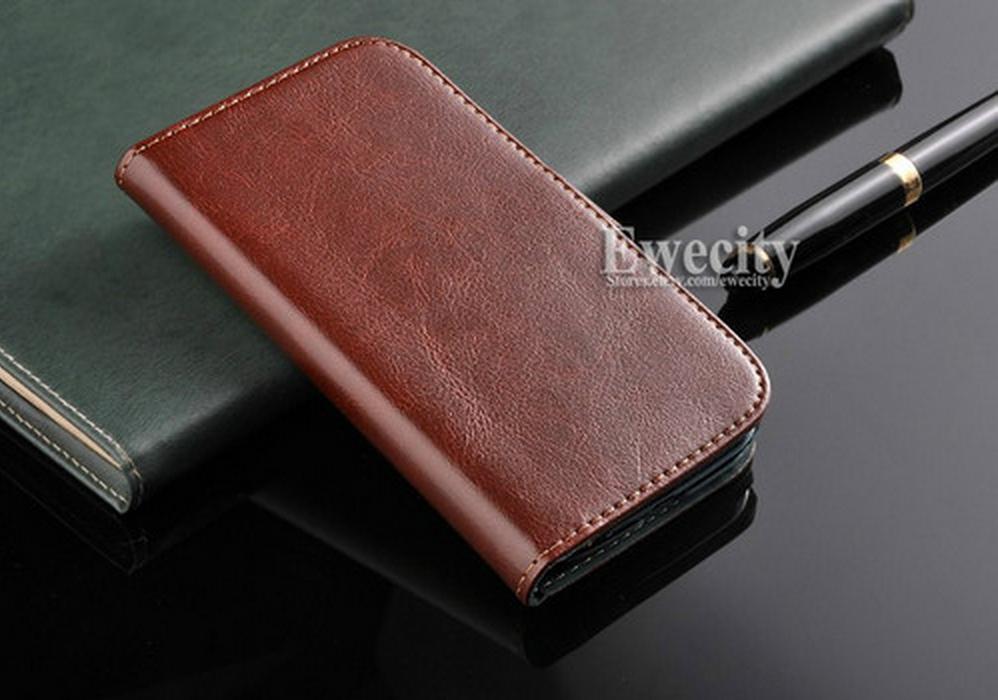 Samsung Galaxy Grand - чехол из кожи коричневый