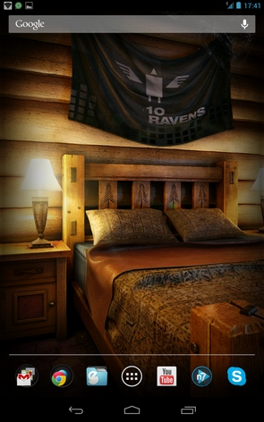 My Log Home - спальня