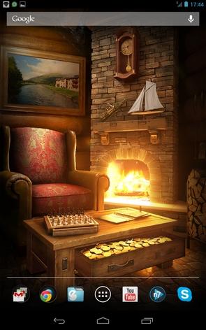 My Log Home - у камина