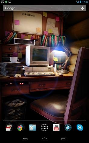 My Log Home - стол с компьютером