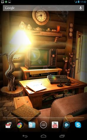 My Log Home - телевизор на столе