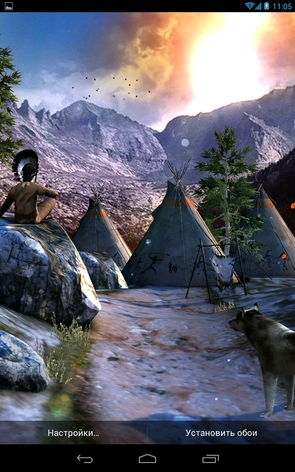 Анимированные обои Native American 3D для Galaxy S4