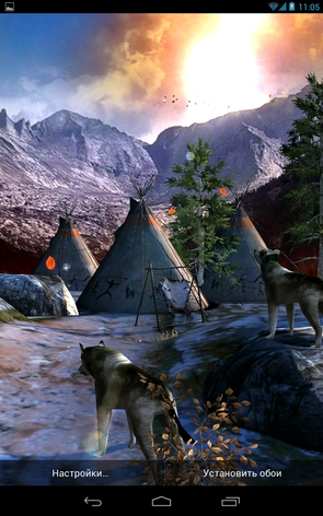 Живые обои Native American 3D для Galaxy S4