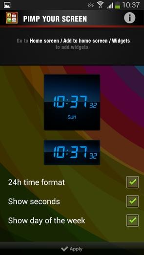 Pimp Your Screen - цифровые часики