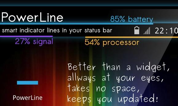 PowerLine - полоски в строке состояния