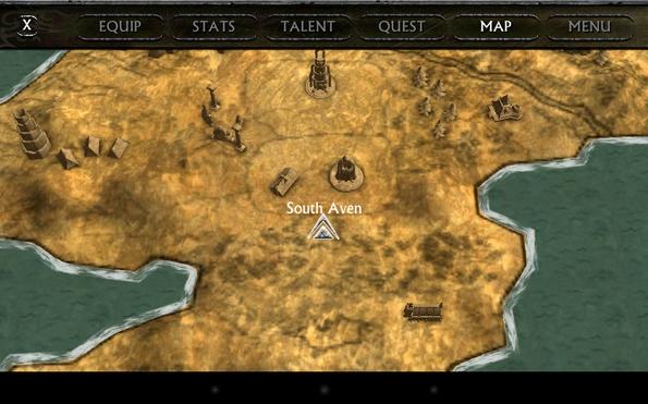 Ravensword: Shadowlands - карта