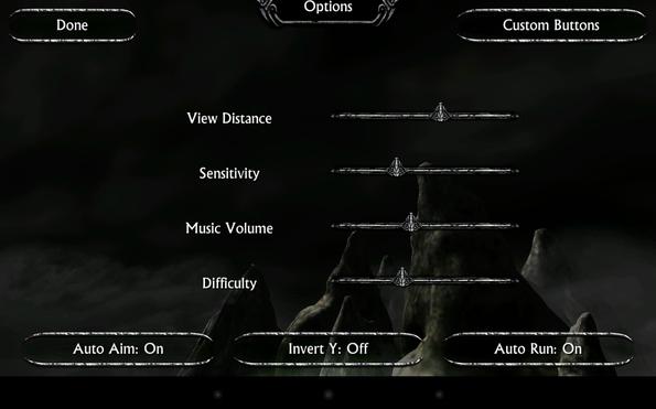 Ravensword: Shadowlands - опции