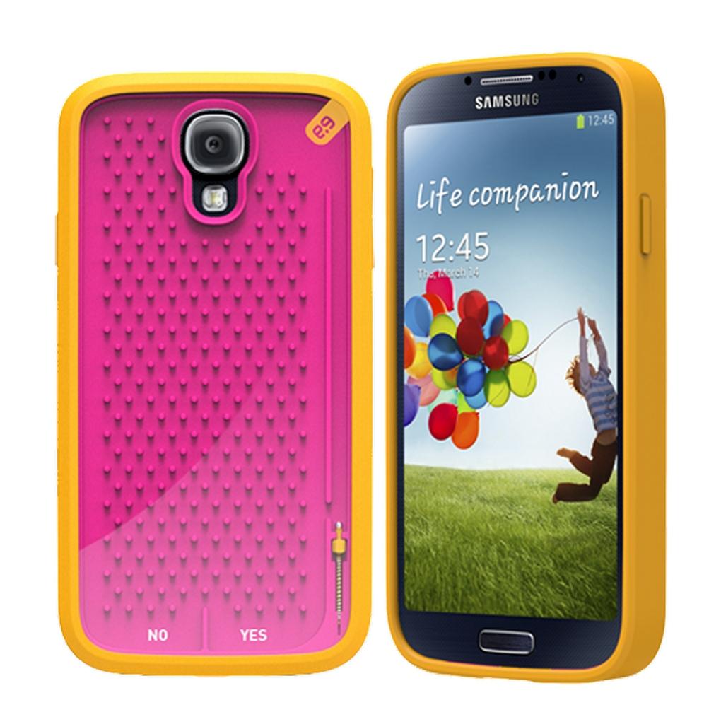 Чехол с ретро-играми для Galaxy S4 - желтый