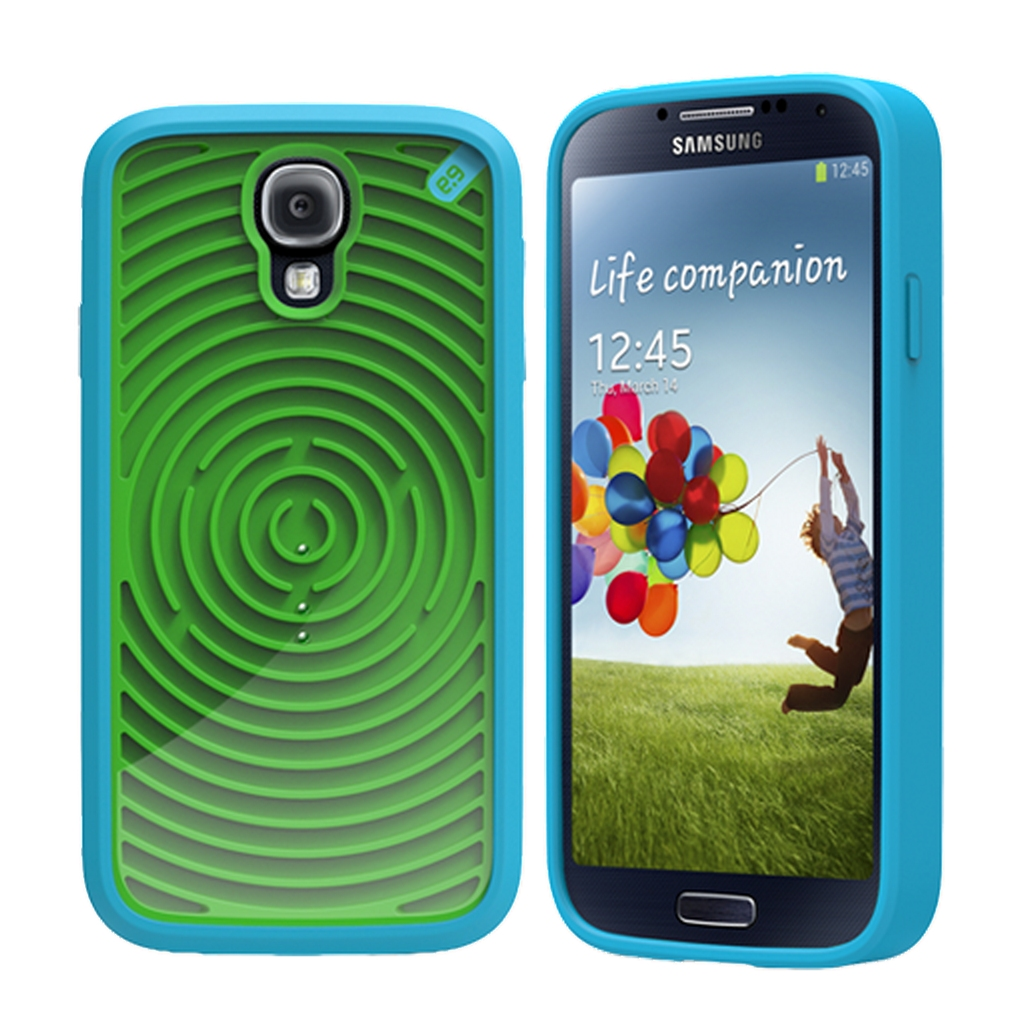 Чехол с ретро-играми для Galaxy S4 - синий