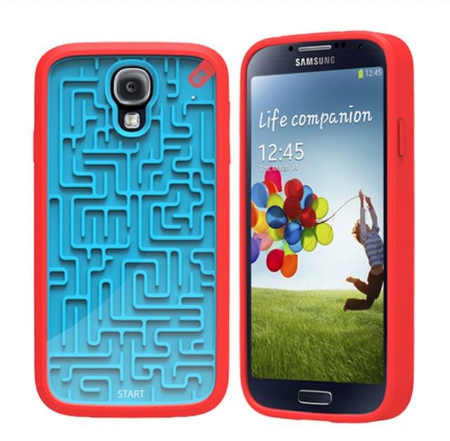 Чехол с ретро-играми для Galaxy S4 - красный
